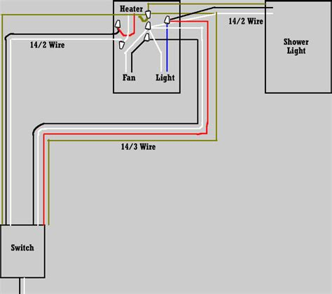 bathroom heater wiring diagram nutone heat l fan wiring