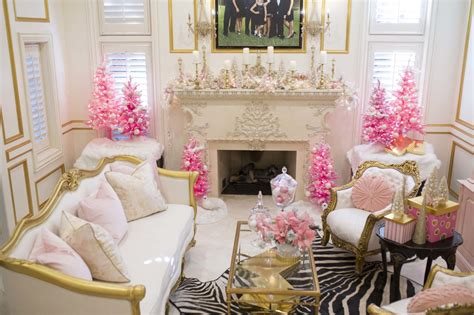 holiday decor traditional living room richmond by jennifer stoner interiors i m dreaming of a white and pink and gold