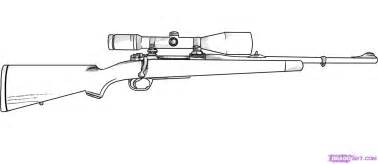 Step 6 how to draw a rifle