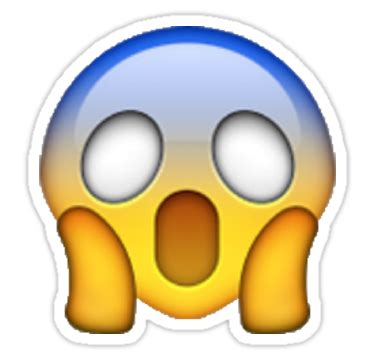imagenes de emoji asustado quot schocked scared emoji aufkleber quot sticker von