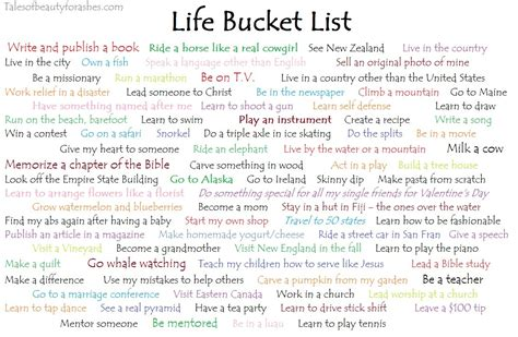 biography stories list life bucket list tales of beauty for ashes