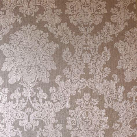 gold wallpaper b and m velvet damask wallpaper rose gold diy b m