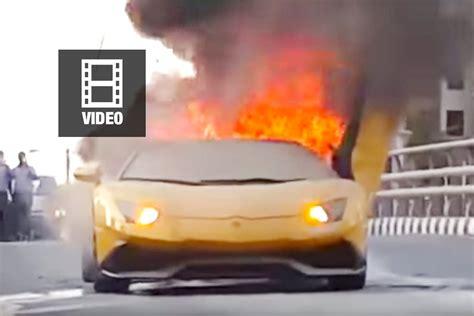 Lamborghini Brennt by Dubai Lamborghini F 228 Ngt Feuer Zu Hei 223 Zum Angeben