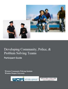 community policing partnerships for problem solving community policing western community policing tribal
