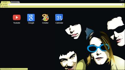 theme google chrome nirvana kurt cobain chrome themes themebeta