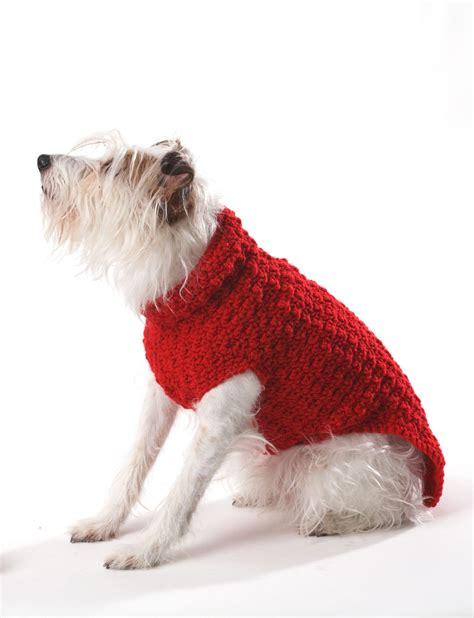 crochet pattern for dog coat bernat crochet dog coat crochet pattern yarnspirations