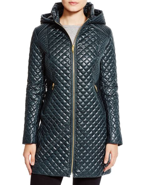 Via Spiga Quilted Coat by Via Spiga Quilted Coat With In Green Bottle Green