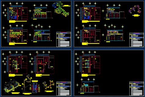 air conditioning details dwg full project  autocad
