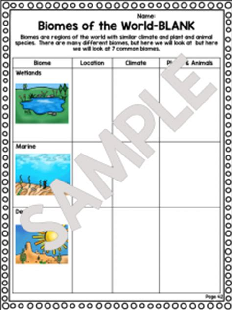 Biomes Of The World Worksheet by Biomes Ecosystem Worksheet Unit Plan For Teachers