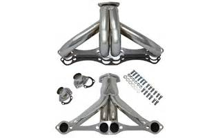 sbc small block chevy hugger headers stainless steel 283