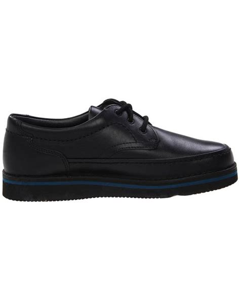 hush puppies mall walker hush puppies mall walker in black for black leather lyst