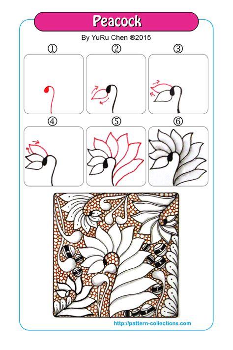 zentangle pattern peacock peacock by yuru chen zentangle patterns pinterest