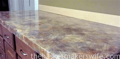Decoupage Countertops - decoupage countertop