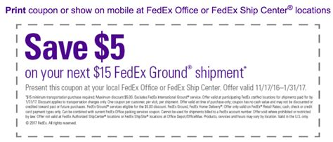 Fedex Office Coupon Code by Get A Fedex Printable In Store Coupon For 5 A 15 Or