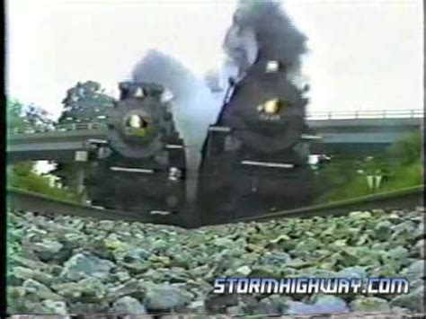 nkp #765 and pm #1225 side by side in hurricane, wv 1991
