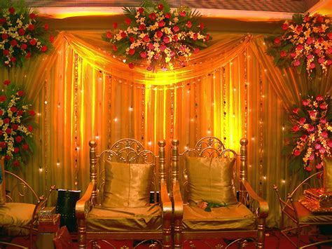 Indian wedding reception decor  Shaadi