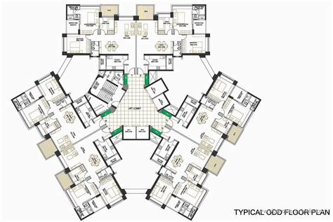bus terminal floor plan design oberoi springs andheri west mumbai residential