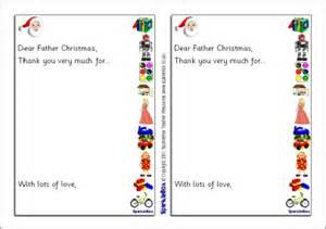 Santa Thank You Letter Template Santa Thank You Letter Sb1118 Sparklebox