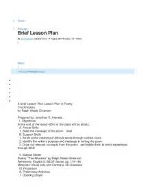 brief lesson plan
