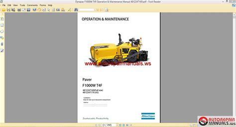 dynapac fw tf operation maintenance manual