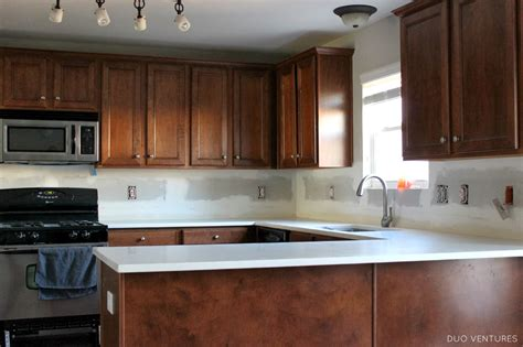 duo ventures kitchen makeover subway tile backsplash installation duo ventures kitchen makeover subway tile backsplash