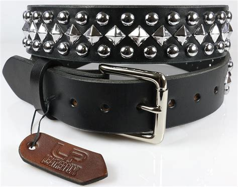 dome pyramid studded leather belt leatherpunk