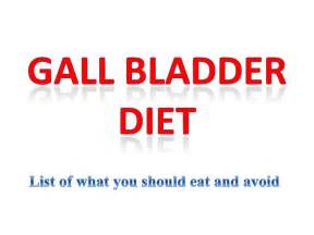 gallbladder diet list of what you should eat and avoid