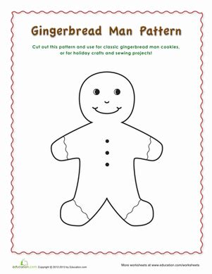 gingerbread man printable activities for preschool gingerbread man pattern worksheet education com