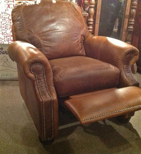 Western Leather Recliner by Gator Embossed Recliner Leather Recliner Western Chair