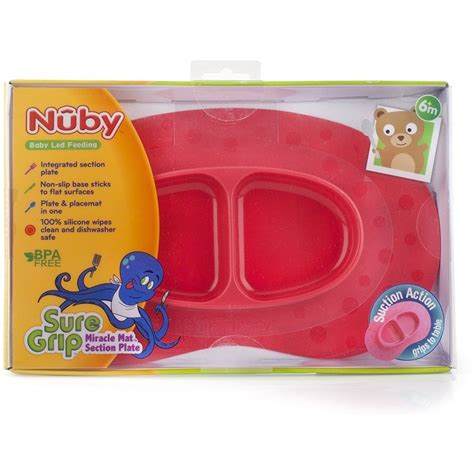 Nuby Ovular Section Silicone Feed Mat Blue nuby sure grip miracle mat section plate pink