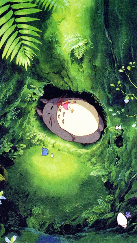 ap japan totoro art green anime illustration wallpaper