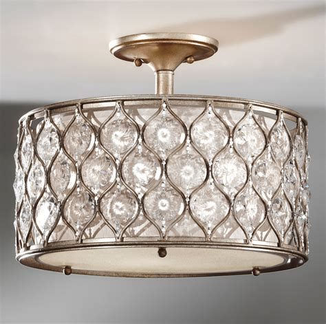 Flush Light Fixtures Murray Feiss Sf289bus Lucia Semi Flush Ceiling Fixture