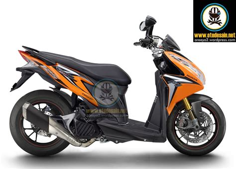 Stiker Cklik Vario honda click vario 125i modified fatty wheels wide rims