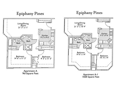 senior living floor plans epiphany senior living floor plans