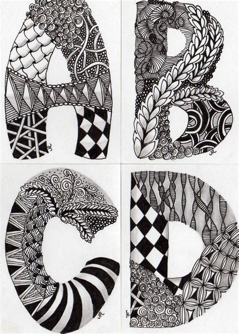 zentangle pattern well making zentangle letters zentangles well i have been
