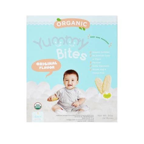 Bites Rice Crackers Biskuit Bayi 6m Berkualitas 5 pilihan makanan organik untuk si bayi smartmama