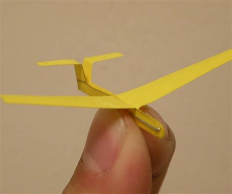 How To Make A Small Paper Airplane - mini staple sailplane 12 steps with pictures