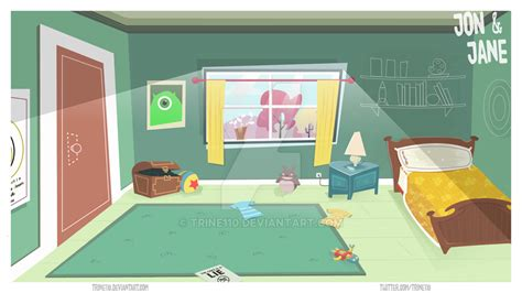 cartoon bedroom bedroom background for animation by trine110 on deviantart