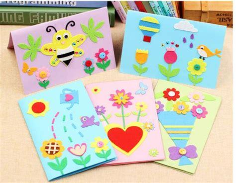 Kartu Ucapan Handmade 38 1pcs diy felt fabric greeting cards kit
