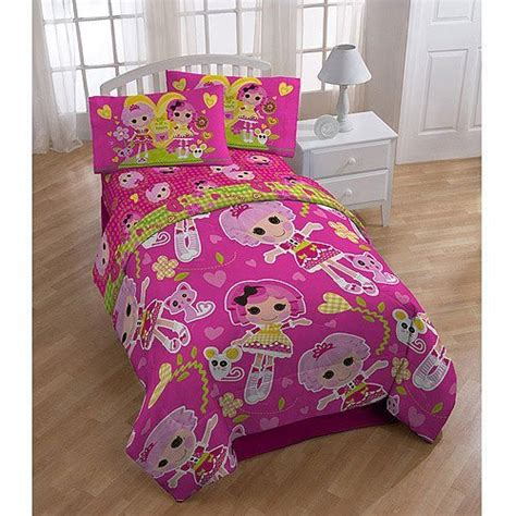 lalaloopsy twin bed lalaloopsy 4 piece reversible twin bedding set with bonus