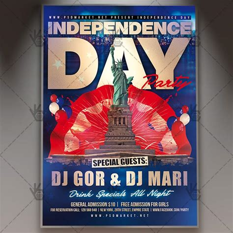 independence day flyer independence day premium flyer psd template psdmarket