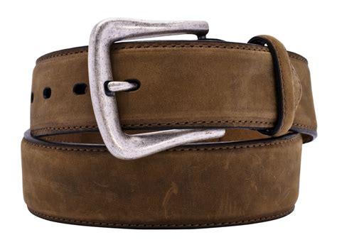 nocona mens brown distressed leather belt n2450444