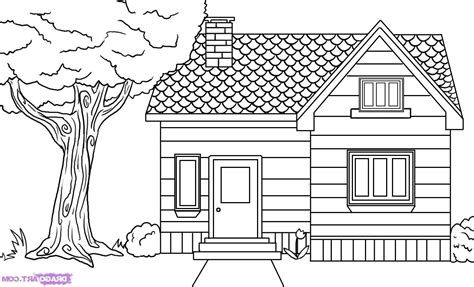 Drawing House by Drawing Of House For To Color How To Draw And Paint