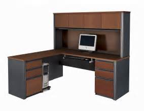 L Shape Desk With Hutch Bestar Prestige L Shaped Desk And Hutch