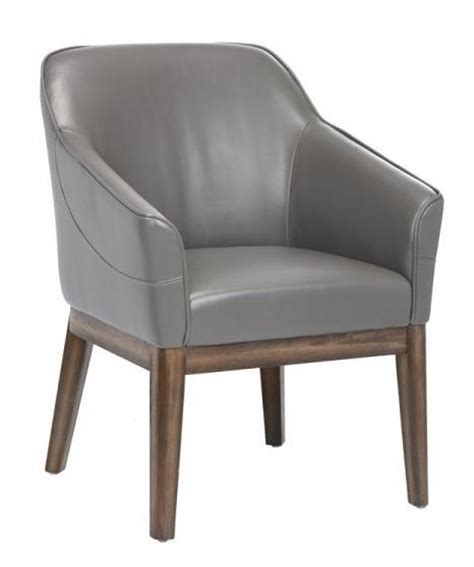 grey leather armchair dorian dove gray leather armchair from sunpan 100359