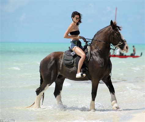 commercial girl riding horse kendall jenner rides on horseback as she vacations in