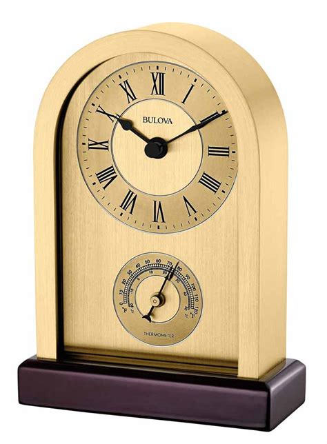Bulova Table Clock by Bulova B5008 Harding Desk And Table Clock The Clock Depot