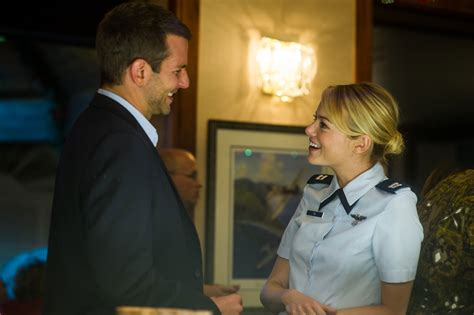 emma stone bradley cooper aloha images big smiles leis and alec baldwin as a dj