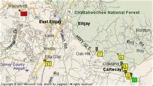 where is ellijay on the map east ellijay