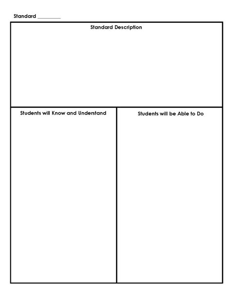lesson plan templates for common standards common lesson plan template printable quotes